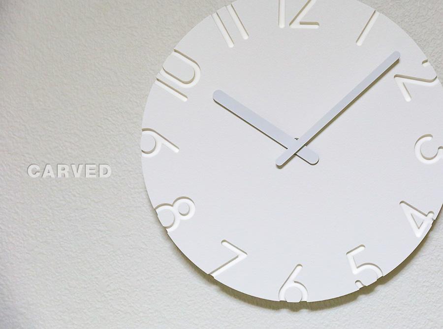 掛け時計 CARVED