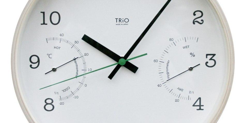 TRiO 湿度計付時計