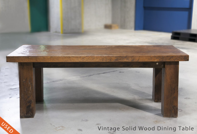 Vintage Solid Wood Dining Table 【Price down】