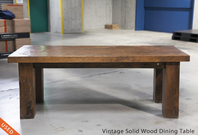 Vintage Solid Wood Dining Table